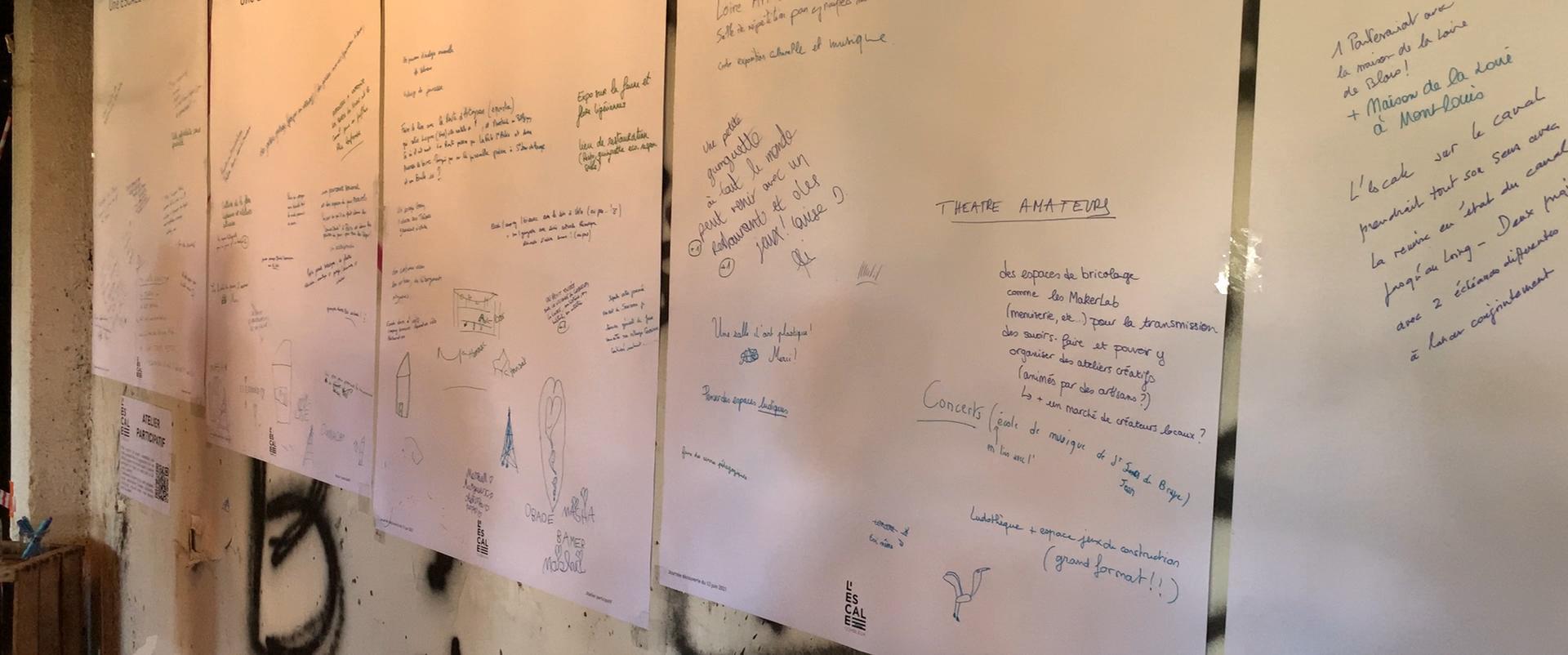 Les visiteurs donnent leurs idées lors de la journée l'Escale Combleux du 13 juin